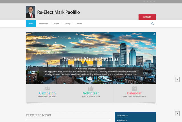 Campaign Election WordPress Website
