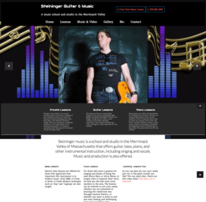 Musician and Music Studio Website