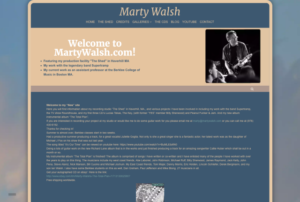 Musician and Music Studio WordPress Website