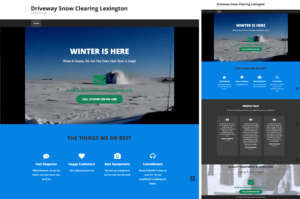 WordPress Driveway Snow Clearing Website