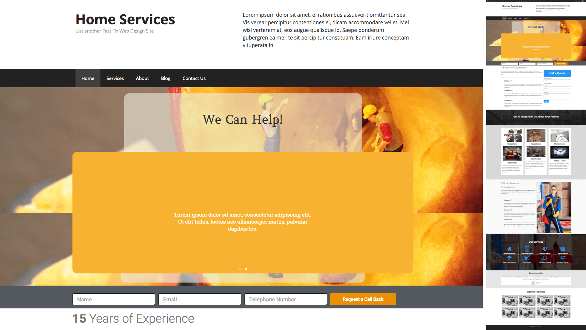 WordPress Home Services Site