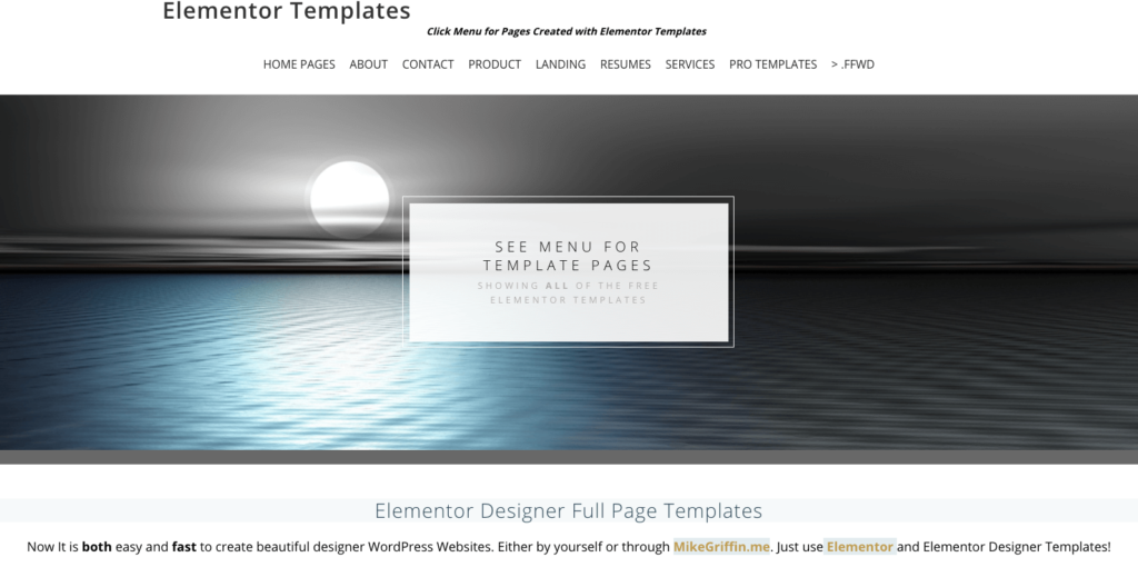 WordPress Model Page Templates