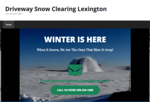 wordpress website snow clearing service