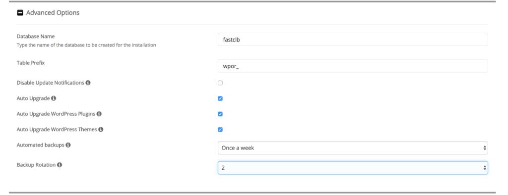 Softaculouse WordPress Advanced Options