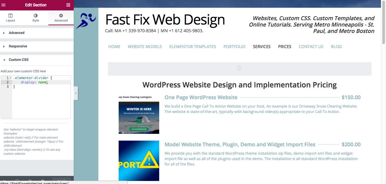 WordPress Elementor Anchor Click Adjustment
