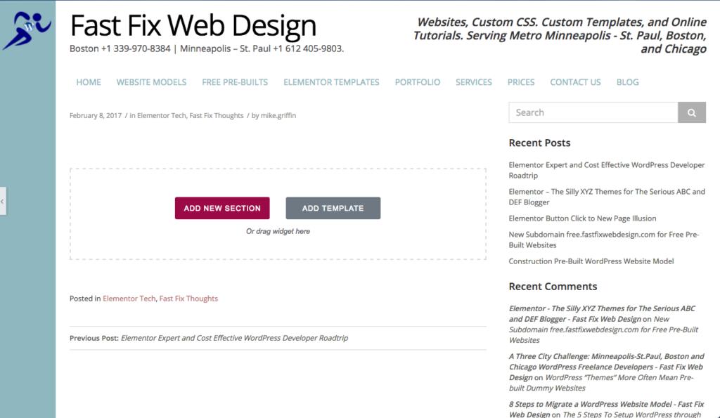 Using elementor for blog posts fast fix web design elementor blog post traditional blog page template maxwellsz