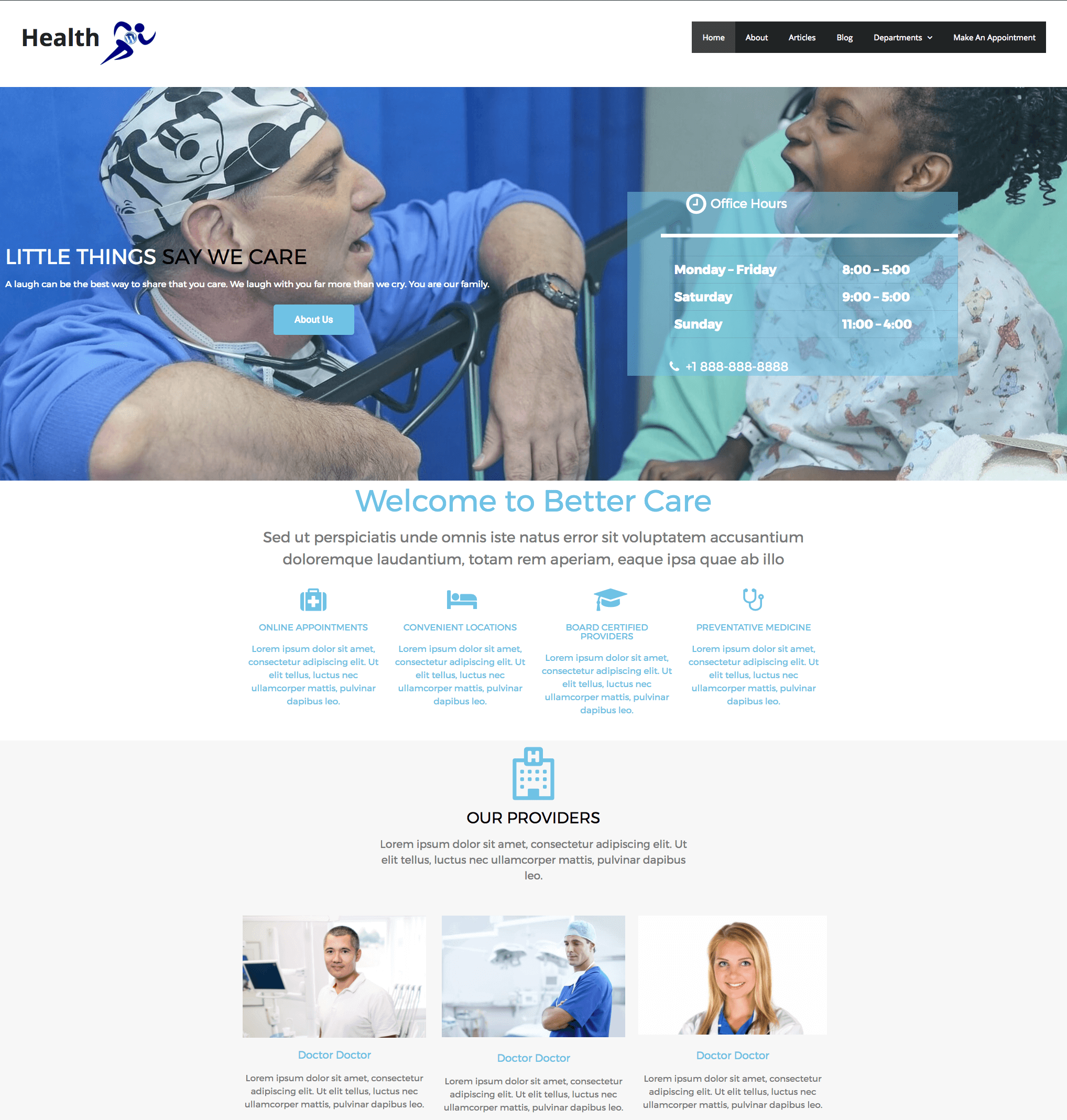 Health One Click Install Website