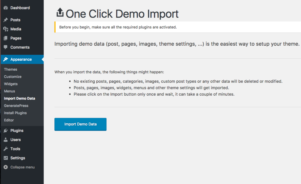 One Click - Install the Complete Elementor Website