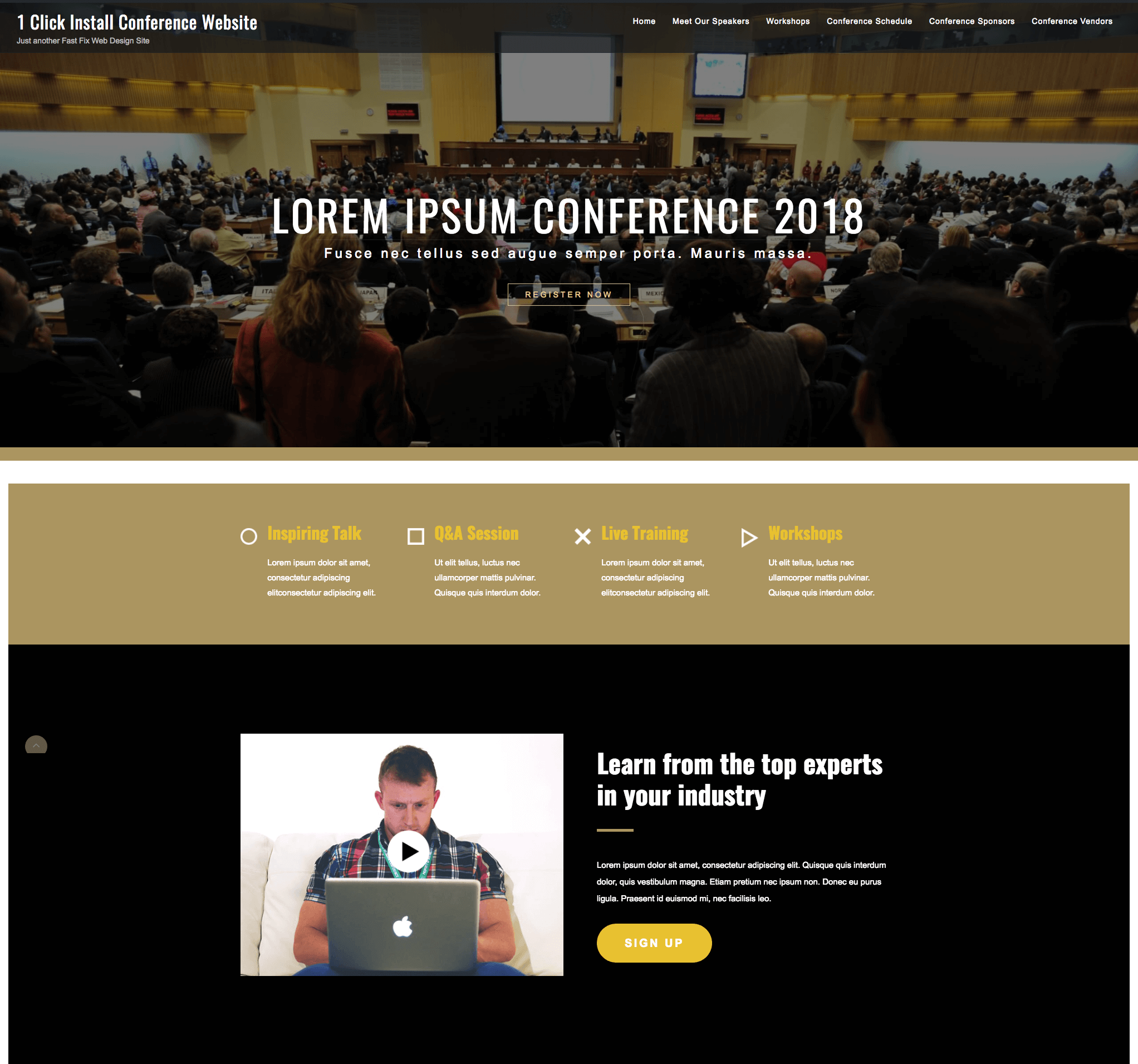 1 click conference website