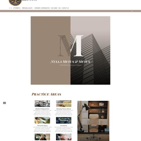 1 click elementor law firm website