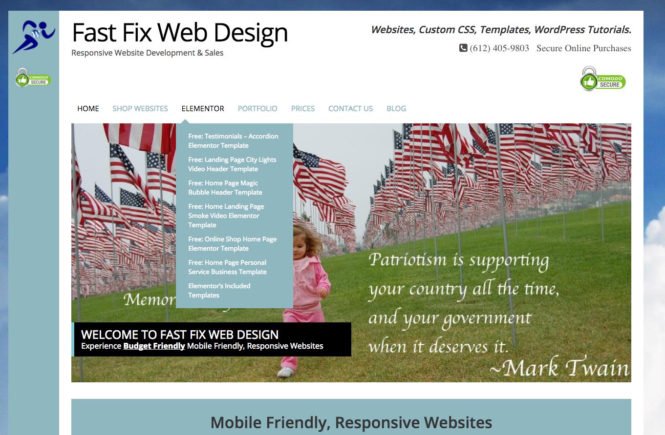 create blog page template wordpress - custom free elementor templates fast fix web design
