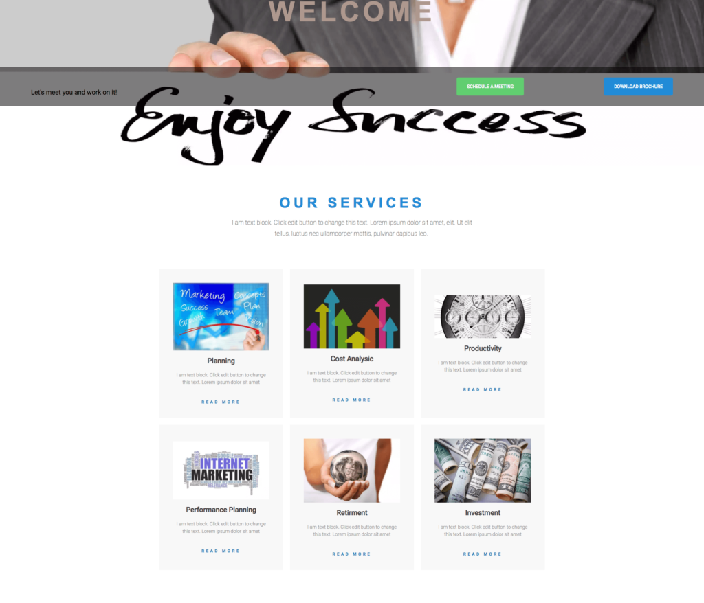 Business Service Offerings Link