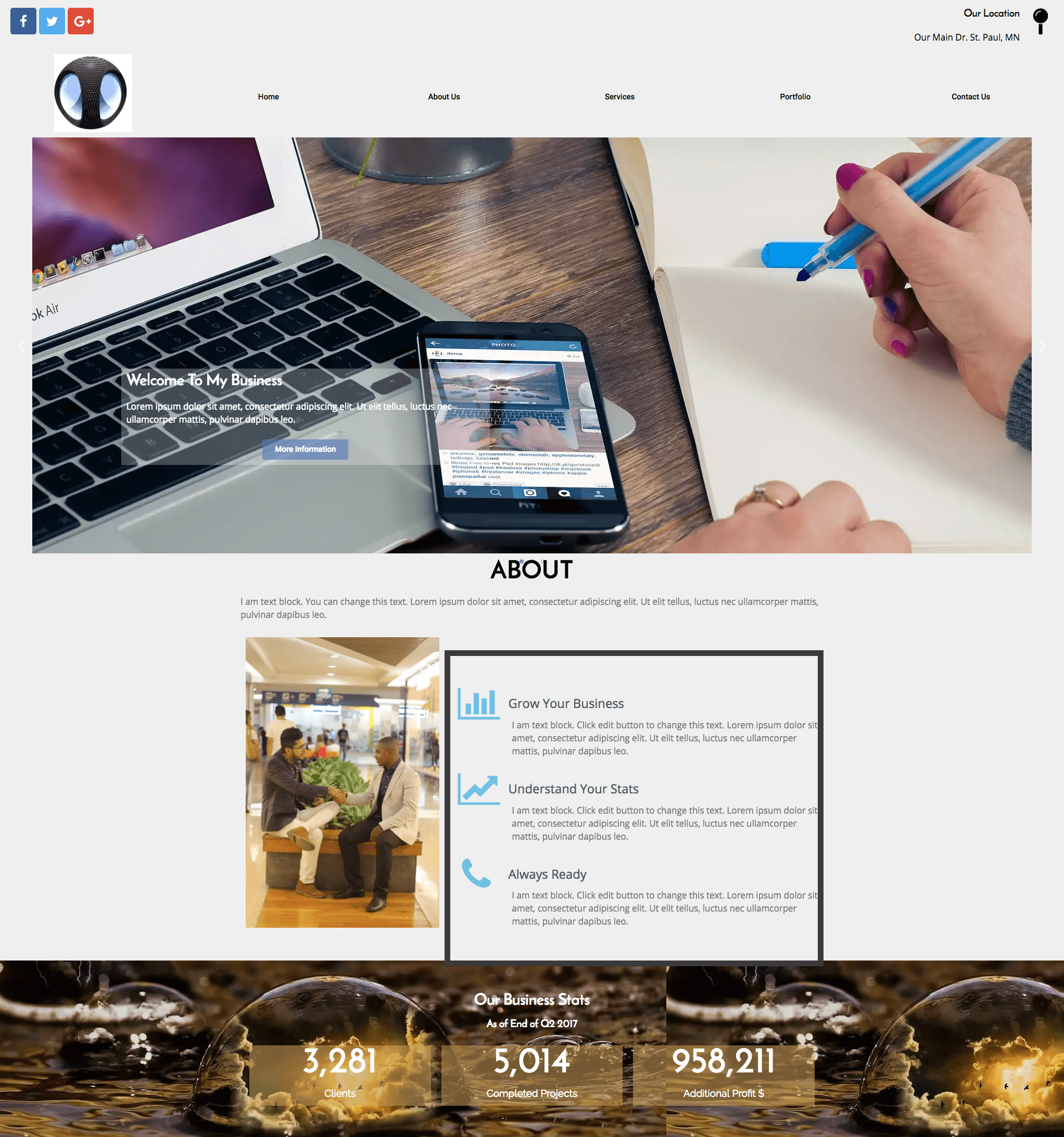 free one page website elementor templates fast fix web design