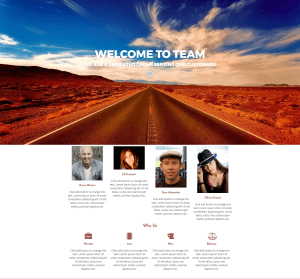 Team Home Landing Page