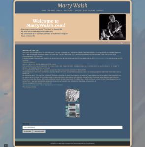 Musician and Music Studio WordPress Website