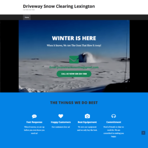 WordPress Driveway Snowclearing Site Above The Fold
