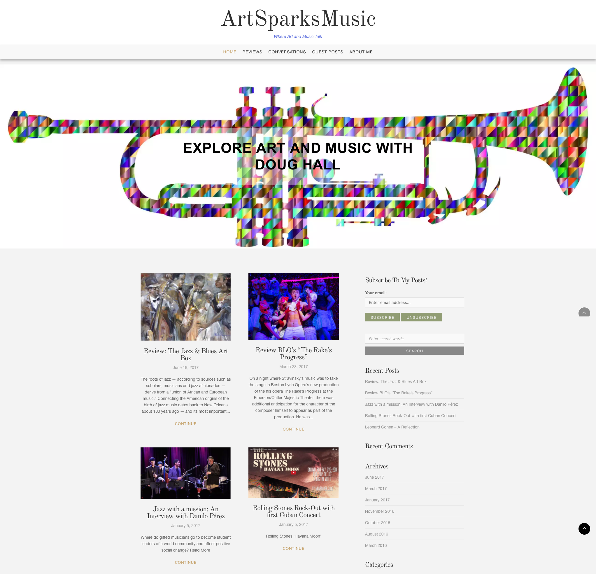 Art and Music Critic Website
