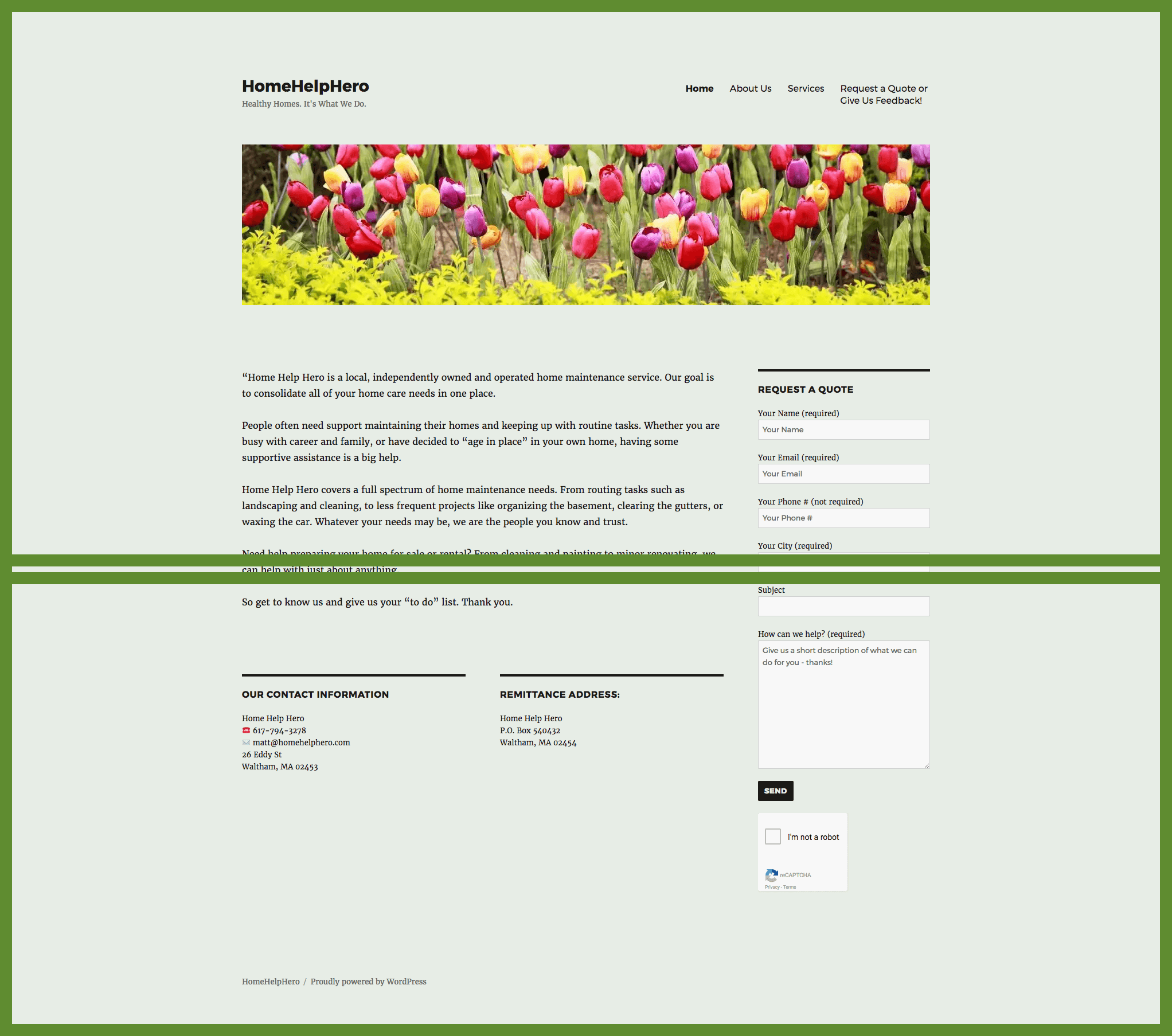 Home Garden Services Website