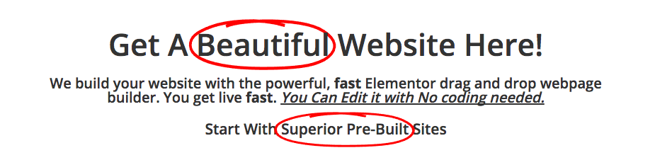 Elementor Animated Headline with Custom Font Size CSS