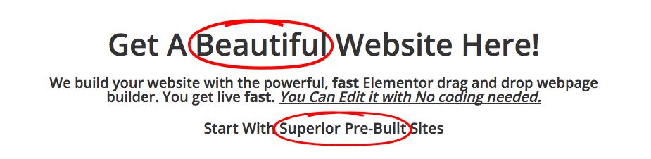 Elementor Animated Headline with Custom Font Size CSS