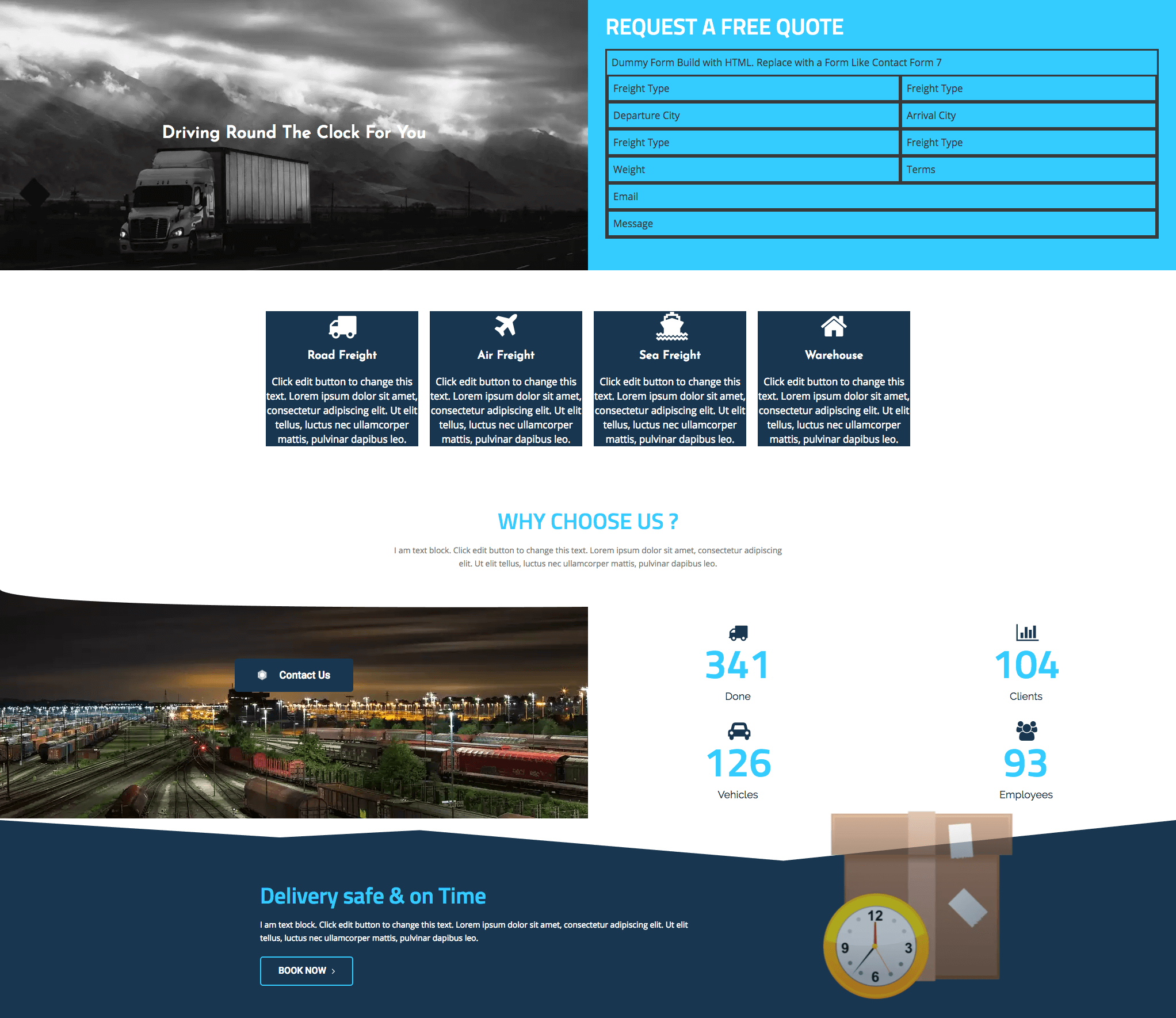 Free Transportation Business Template