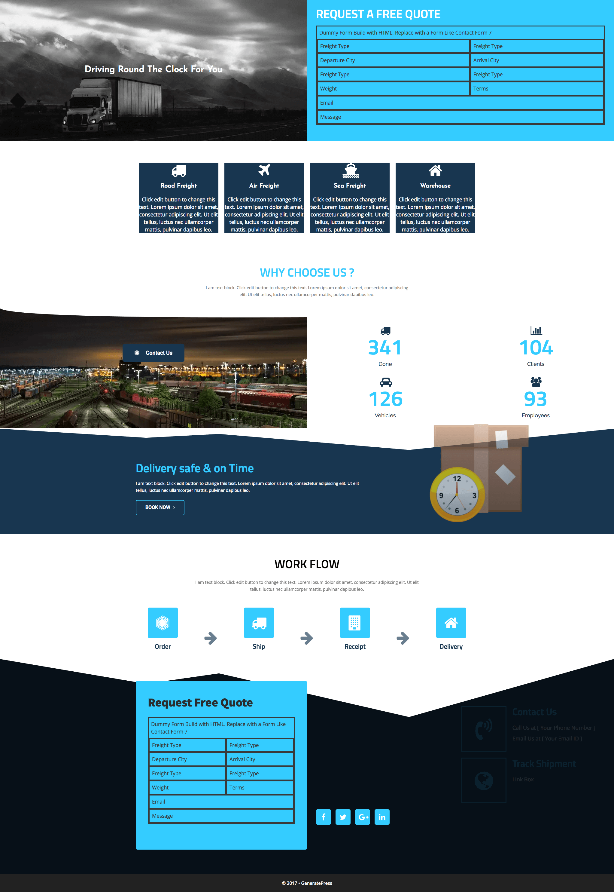 free-transportation-business-template