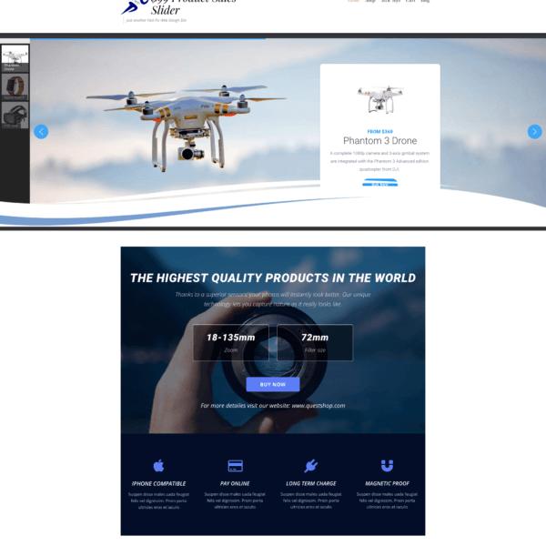 product slider website