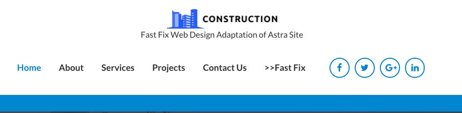 Astra header menu bar