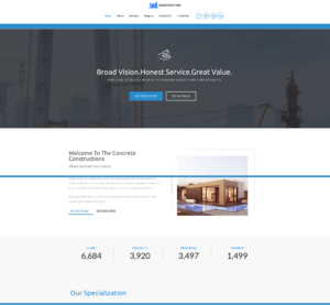 astra construction home page