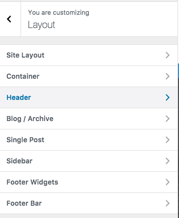 astra page layout customizer