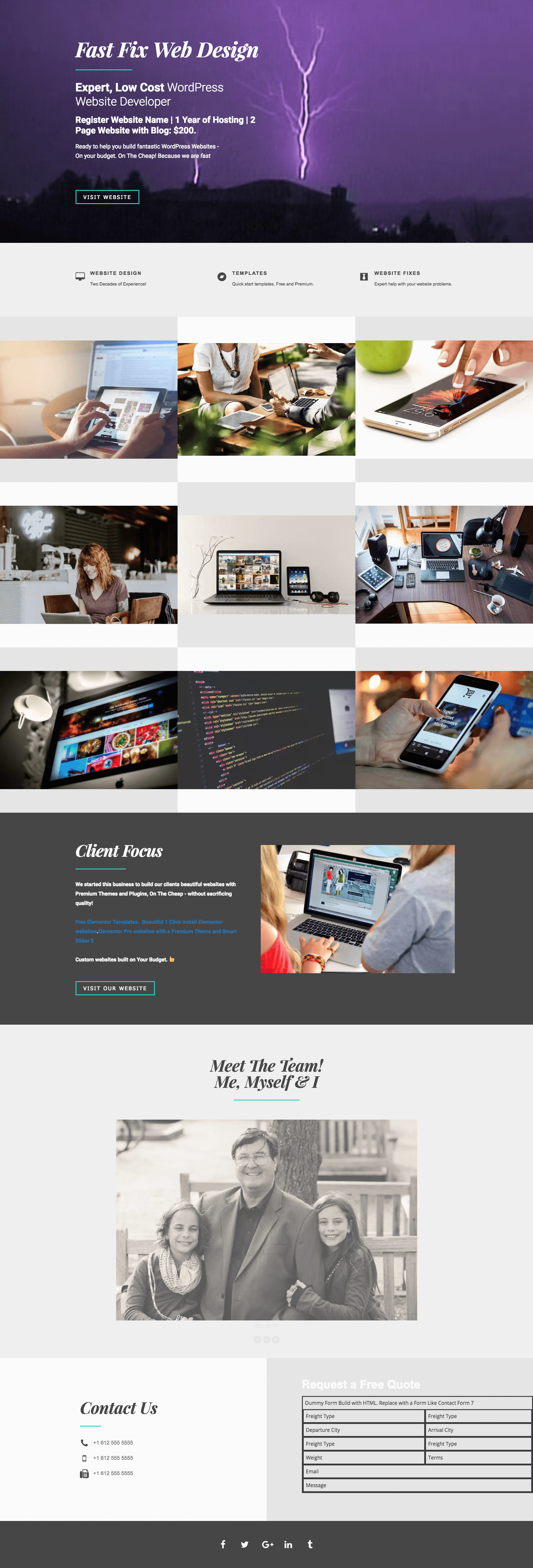 free-web-design-development-template