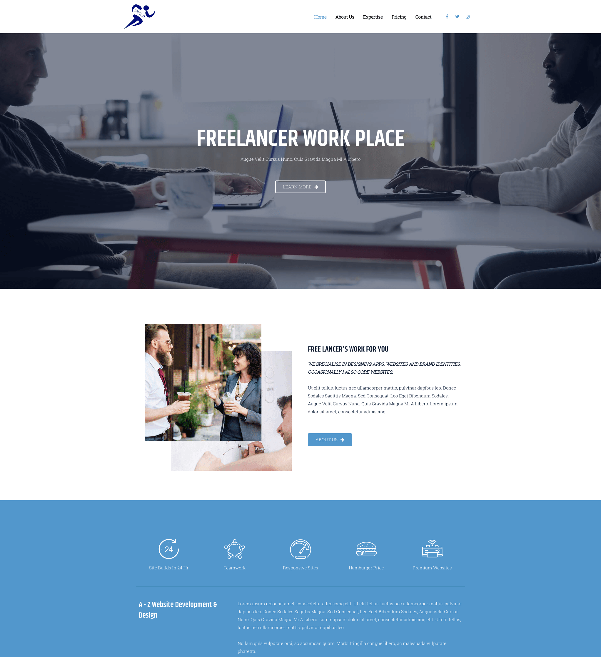 Elementor Freelancer Group Website