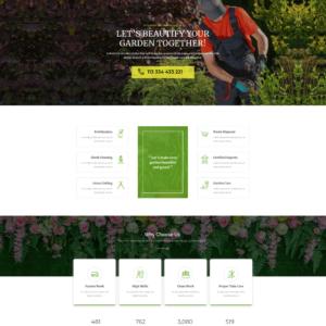 Elementor Astra Landscape Gardening Website
