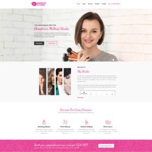Elementor Astra Service Business Website - Makeup Artist