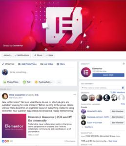 Elementor Group On Facebook