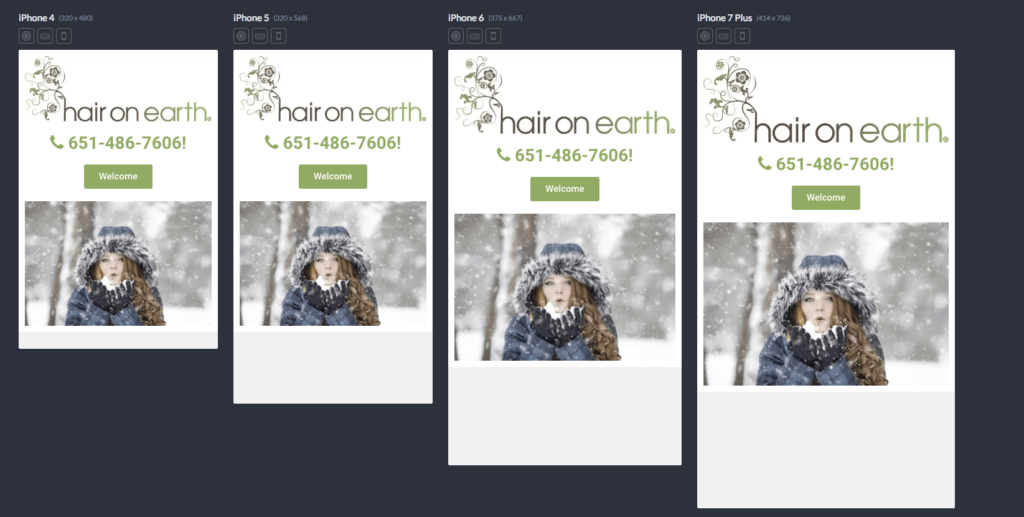 hair on earth on mobile devices