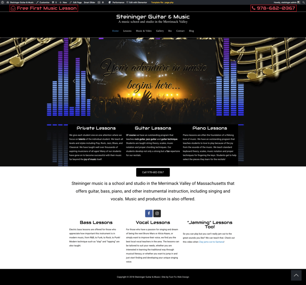 home page steininger music