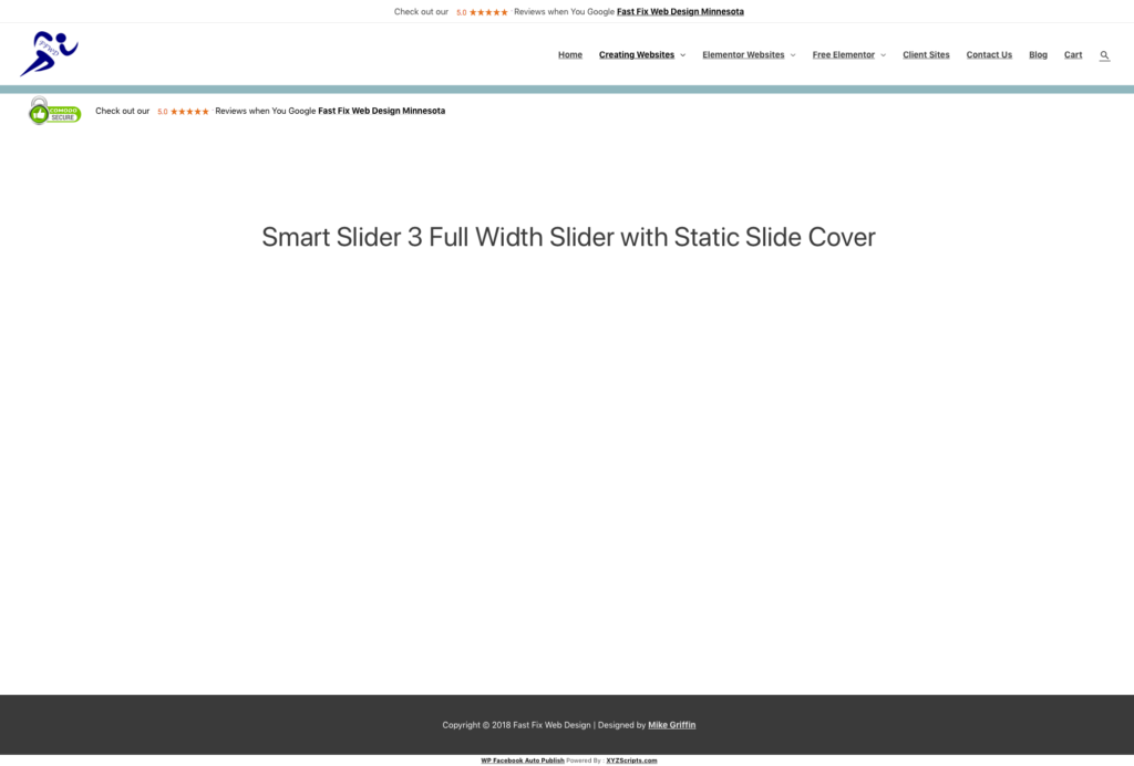 Smart Slider 3 Blank White on WordPress with Elementor