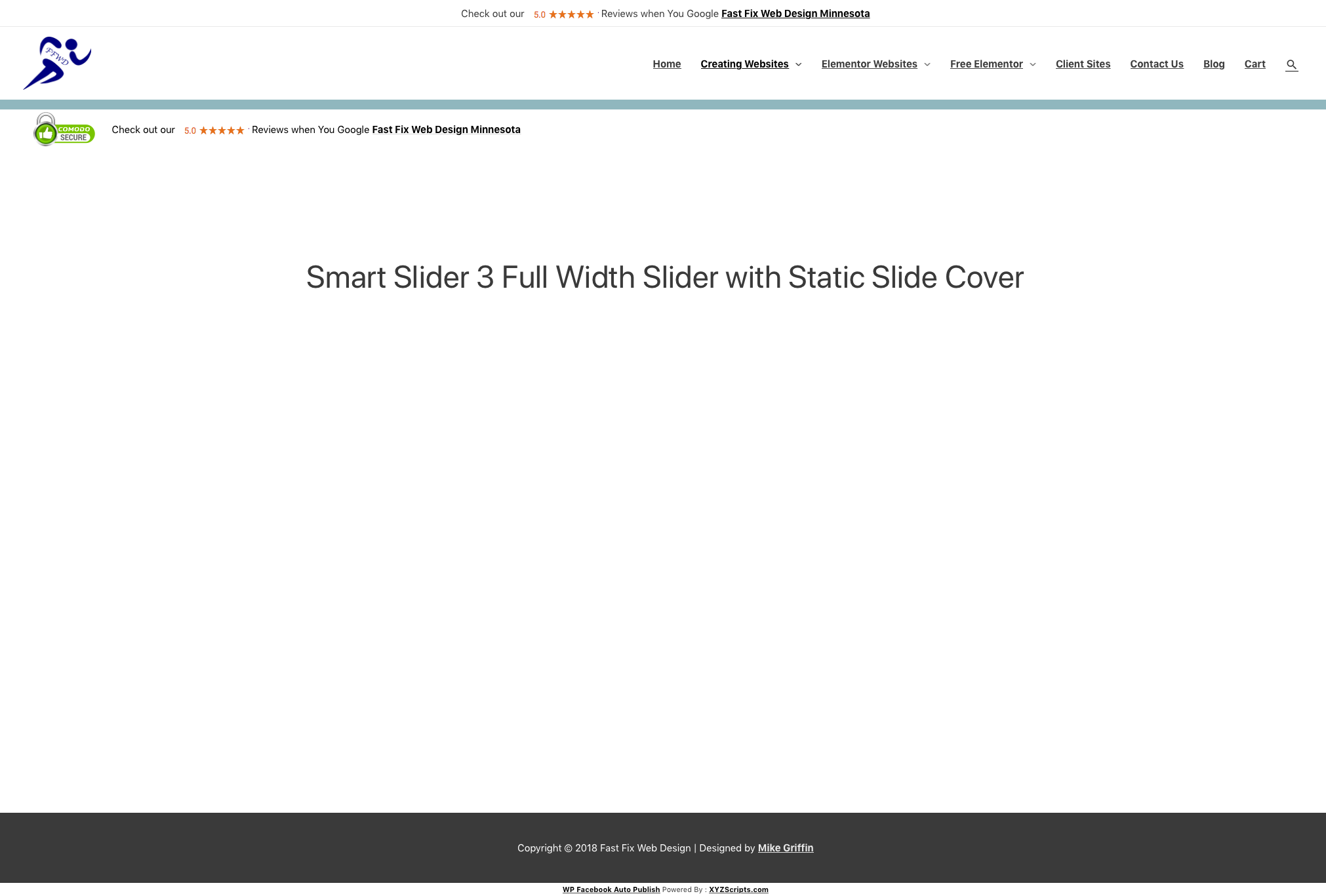 Smart Slider 3 Blank White on WordPress with Elementor