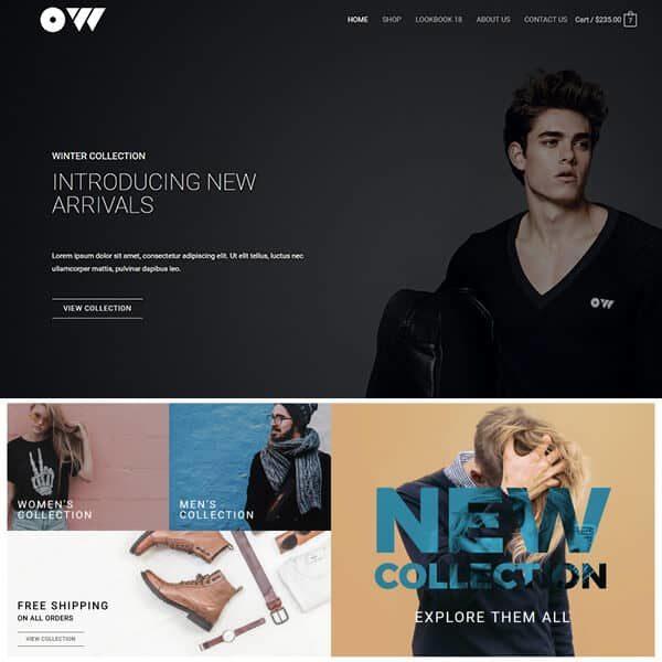 elementor clothing store website