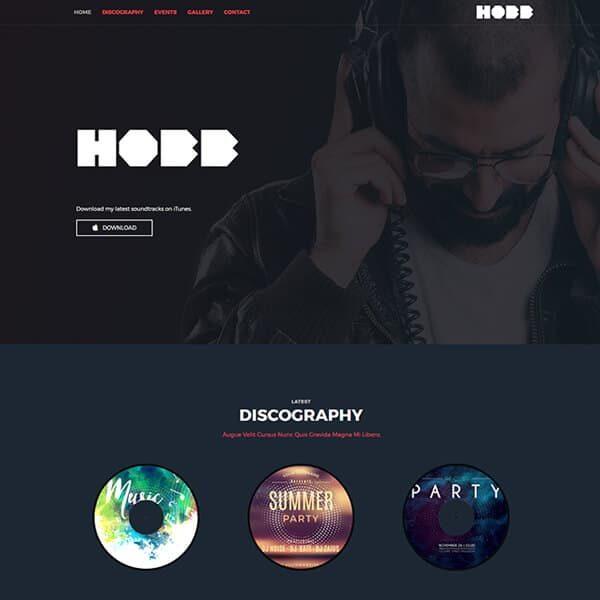 elementor dj disc jockey website