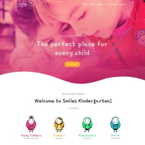 elementor kindergarten education website