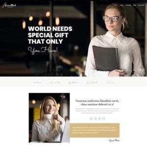 elementor life coach website