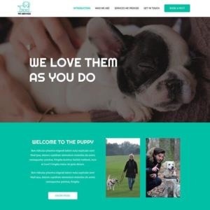 elementor pet services care website