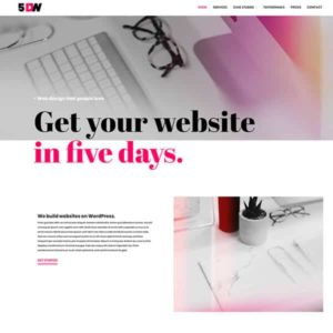 elementor website design and development 5 days