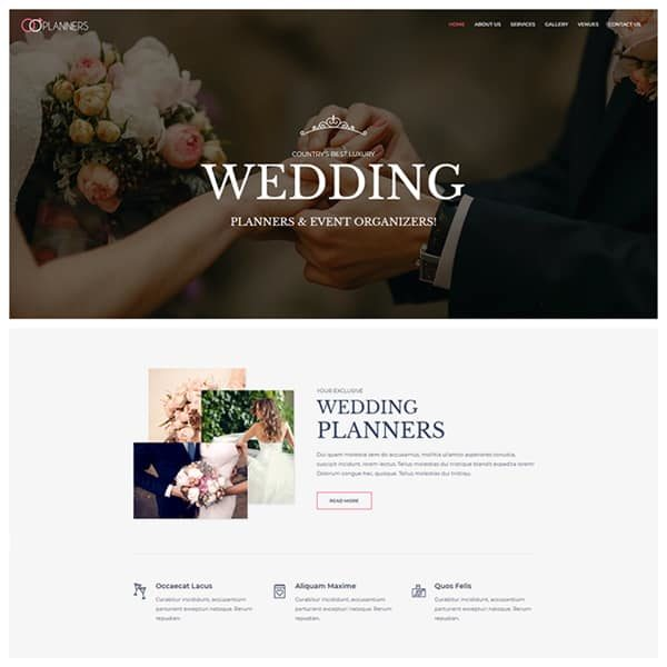 Elementor Wedding Planner Website
