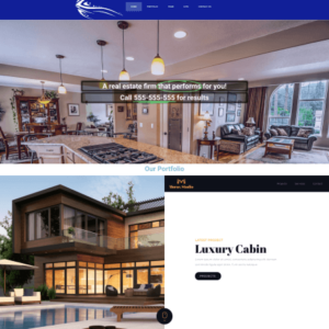 one page real estate website450x465